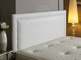 headboard reading ls bed bumper frenzy faux leather headboard all sizes white 4ft6 double