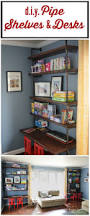 Designer Shelves Diy Pipe Shelves And Built In Desks Designer Trapped In A