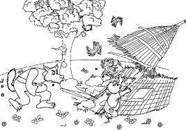 pigs afraid bad wolf coloring pages batch