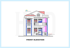 front house elevation design drawing stairs pinned by www modlar
