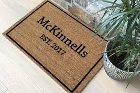 housewarming wedding gift idea door mats personalized doormat custom doormat welcome mat