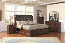 Rustic Bedroom Furniture Captivating Upholstered Leather Headboard And Neutral Bedding Idea