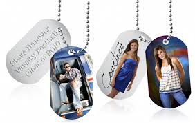 graduation dog tags blue lightning senior photos