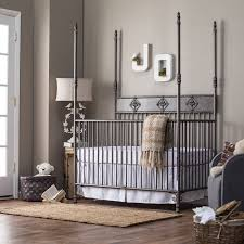 Bratt Decor Crib Craigslist by Bedroom Comfy Black Iron Wrought Iron Crib And Rustic Rug And