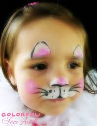coloring exquisite face paint kids kitty mouse coloring