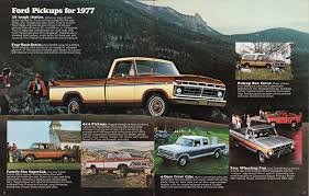 1977 pickup ford truck sales brochure old fords pinterest