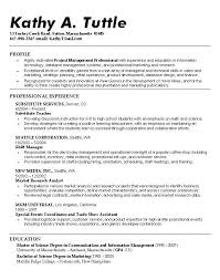Resume Objective For Any Job by Example Of Resume Objective Resume Objective Project Manager Best