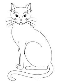 cat coloring animals town animals color sheet cat free