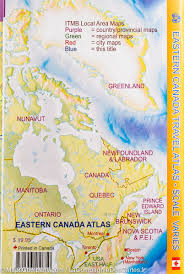 Maps North America by Maps North America Canada Quebec Road Atlas Of Eastern Canada Itm