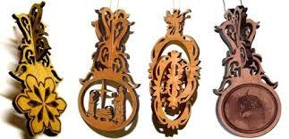 handmade custom 3d wood ornaments by frontiernow