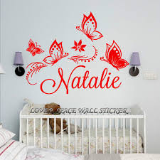 personalized custom butterflies butterfly flower name vinyl decal getsubject aeproduct