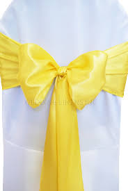 yellow chair sashes white canary yellow chair sashes chair bows ties wedding