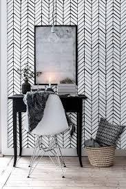 temporary wall paper self adhesive vinyl wallpaper chevron pattern print 026 white