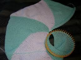 Desk Blanket How To Loom Knit A Round Blanket In Search Of The Cutest Baby