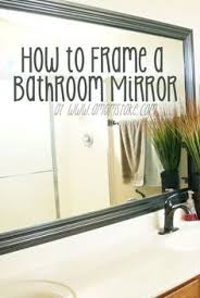 cheapest bathroom mirrors inexpensive and easy way to upgrade your plain bathroom mirror