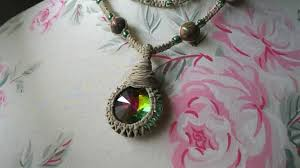 hemp necklace pendants images Rainbow prism hemp necklace jpg