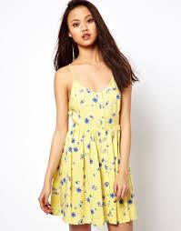 sun dress river island print sun dress in yellow lyst
