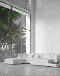 ceiling window large modern minimalist living room interior with a double volume