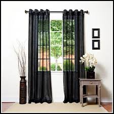 black sheer curtains 17 best ideas about black eyelet curtains on
