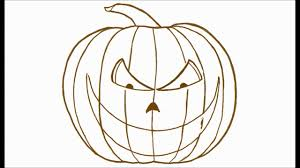 Easy To Draw Scary Halloween Pictures by How To Draw A Scary Halloween Jack O Lantern Youtube
