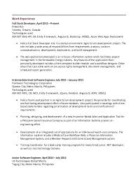 Junior Software Engineer Resume Sample by Sample Resume For Trainee Software Engineer