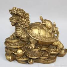 tortoise home decor china brass fengshui wealth treasure dragon turtle tortoise lucky