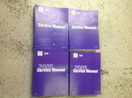 2005 gm cadillac xlr x l r service repair shop workshop manual set
