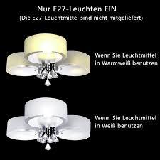 Deckenleuchte F Esszimmer Yorbay Led Kristall Deckenleuchte Deckenlampe E27 Rbp Licht Mit