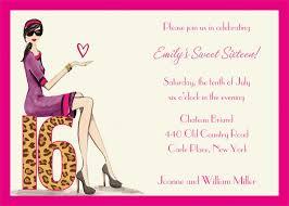 Sweet 16 Invitation Templates Free sweet 16 birthday invitations cards new invitations