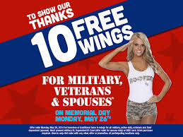 Free Military Business Cards Hooters Pays Tribute To Military Spouses And Veterans With Free