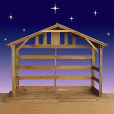wood stable for the home nativity stable