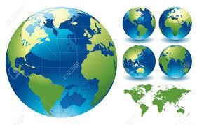 globe earth maps world globe maps editable vector illustration royalty free