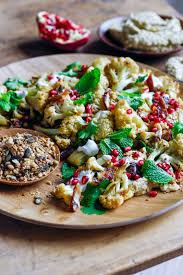Hummus Kitchen Roast Cauliflower Salad With Eggplant Hummus U0026 Walnut Dukkah