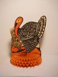 vtg 1950 s die cut usa honeycomb fold out turkey thanksgiving