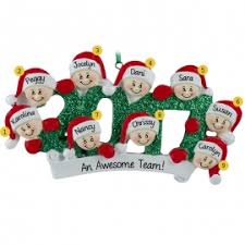 family of nine ornaments personalized ornaments for you