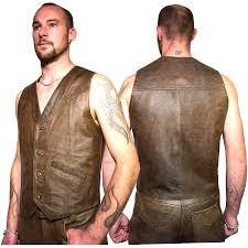 motorcycle waistcoat men u0027s cruiser style leather waistcoats