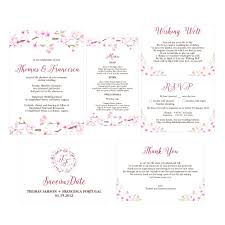 wedding invitations layout template celebration of invitation template size cherry