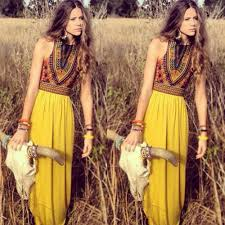 new womens boho long maxi dress ladies vintage summer beach