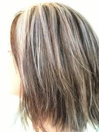 how to blend gray hair with lowlights gray hair women with lowlights google search brunettes do it