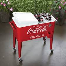 Decorative Coolers For The Patio by 80 Quart Rolling Retro Coca Cola Cooler Www Kotulas Com Free