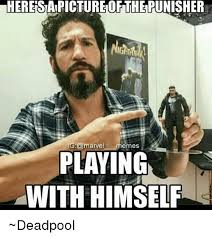 Meme Marvel - heresiapicturetoftherunisher ig memes playing with himself deadpool