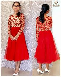 umbrella pattern salwar umbrella cut red net frock with embroidered and sequin worked net