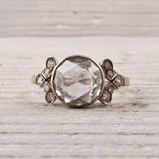 art deco carat rose cut diamond love vintage gorgeous my