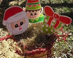 Outdoor Christmas Yard Decor by Christmas Yard Stakes Etsy