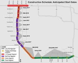 Chandler Arizona Map by South Mountain Freeway Construction In Early 2017 Will Lay A