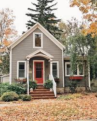 Small House Exterior Paint Colors by Grey Exterior Home Yellow Front Door Charming A Home Y Home