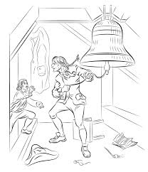liberty bell america coloring page history free download