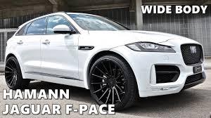 jaguar f pace grey hamann jaguar f pace in white youtube