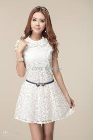 casual white dress latest fashion style