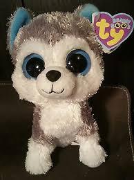 ty beanie boo u0027s slush snow husky dog mint original